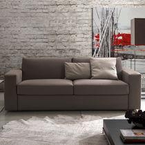 Sofá cama / moderno / de cuero / de tejido