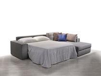 Sofá de esquina / cama / moderno / de tejido