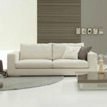 Sofá de esquina / moderno / de tejido / de cuero