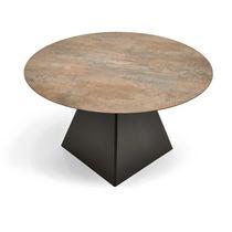 Mesa moderna / de acero / cuadrada / de jardín