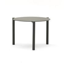 Mesa de centro moderna / de aluminio / redonda / de jardín