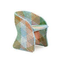 Silla de jardín moderna / con reposabrazos / de aluminio / de fibras sintéticas