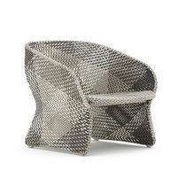Sillón moderno / de aluminio / de fibras sintéticas / contract