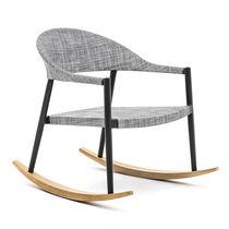 Sillón moderno / de madera maciza / de iroko / de aluminio pintado
