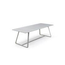 Mesa de comedor moderna / de acero / de HPL / de cemento