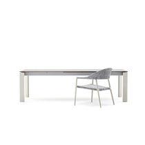 Mesa de comedor moderna / de metal pintado / de HPL / rectangular