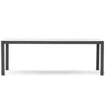Mesa de comedor moderna / de aluminio pintado / de HPL / rectangular