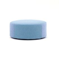 Puf moderno / de tejido / redondo / para zona de recepción
