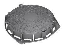 Tapadera de inspección de hierro fundido / redonda / con tapa