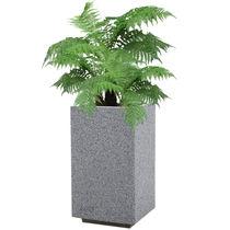 Jardinera de hormigón / rectangular / moderna / para lugar público