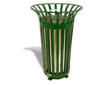 Cubo de basura público / de acero / clásico