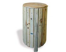 Cubo de basura público / de pino / clásico
