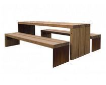 Mesa de pícnic / moderna / de pino / rectangular