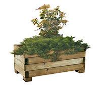 Jardinera de madera / cuadrada / moderna / para lugar público