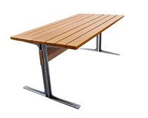 Mesa moderna / de madera / de hierro / rectangular