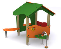 Estación de juego de madera / de HPL / para parque infantil