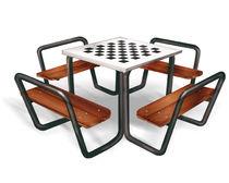 Mesa de ajedrez moderna / para uso exterior / para lugar público