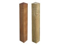 Bolardo de protección / de madera / fijo / amovible