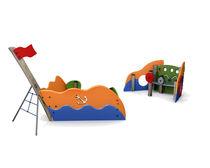 Estación de juego de PEHD / de acero / para parque infantil