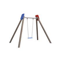 Columpio de PEAD / de acero / de madera