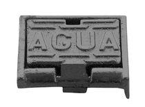 Tapadera de inspección de hierro fundido / rectangular