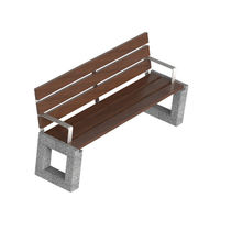 Banco público / moderno / de hormigón prefabricado / de madera