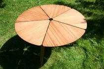 Mesa de comedor / moderna / de bambú / redonda
