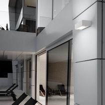 Aplique moderno / de exterior / de aluminio / de vidrio