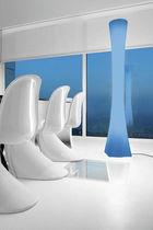 Columna luminosa moderna / de policarbonato / LED / de interior