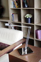 Lámpara de mesa / moderna / de aluminio / de acero