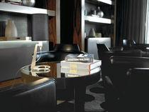Lámpara de mesa / moderna / de aluminio / de tejido