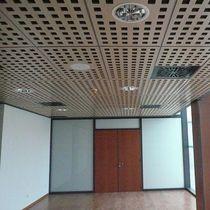 falso techo de madera tipo panel acstico enrejado