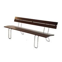 Banco público / clásico / de madera / de acero