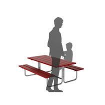 Mesa de pícnic moderna / de acero galvanizado / rectangular / para espacio público