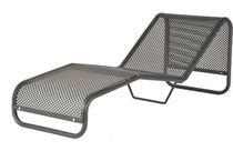 Chaise longue moderna / de acero / de exterior / para espacio público
