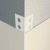 Perfil de acabado de PVC / para ángulo exterior / para fachada / para tabique