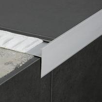 Perfil de acabado de aluminio / para baldosas / de canto recto
