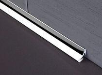 Perfil de acabado de acero inoxidable / para baldosas / para ángulo interior