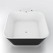 Bañera independiente / cuadrada / de mineral compuesto