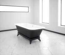 Bañera con patas / de mineral compuesto