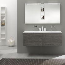 Mueble de lavabo suspendido / de madera / moderno