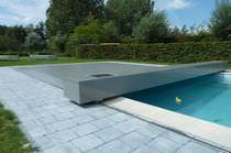 Cubierta para piscina de botón / de aluminio / motorizada