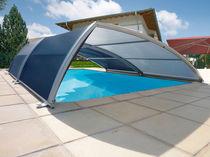 Cubierta para piscina baja / telescópica / de titanio / con accionamiento manual