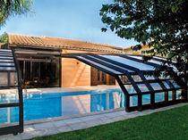 Cubierta para piscina adosadas / corredera / de madera / con accionamiento manual