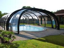 Cubierta para piscina alta / telescópica / de acero inoxidable / con accionamiento manual