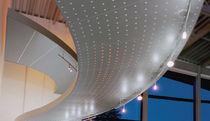 Panel acústico para falso techo / de metal / perforado