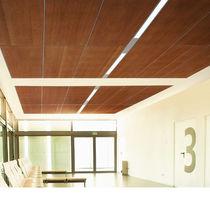 Falso techo de madera / tipo panel