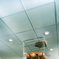 Falso techo de yeso / tipo panel / acústico
