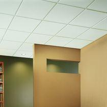 Falso techo de fibra mineral / tipo panel / acústico