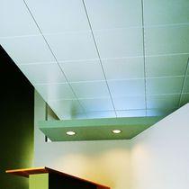 Falso techo de aluminio / tipo panel / acústico